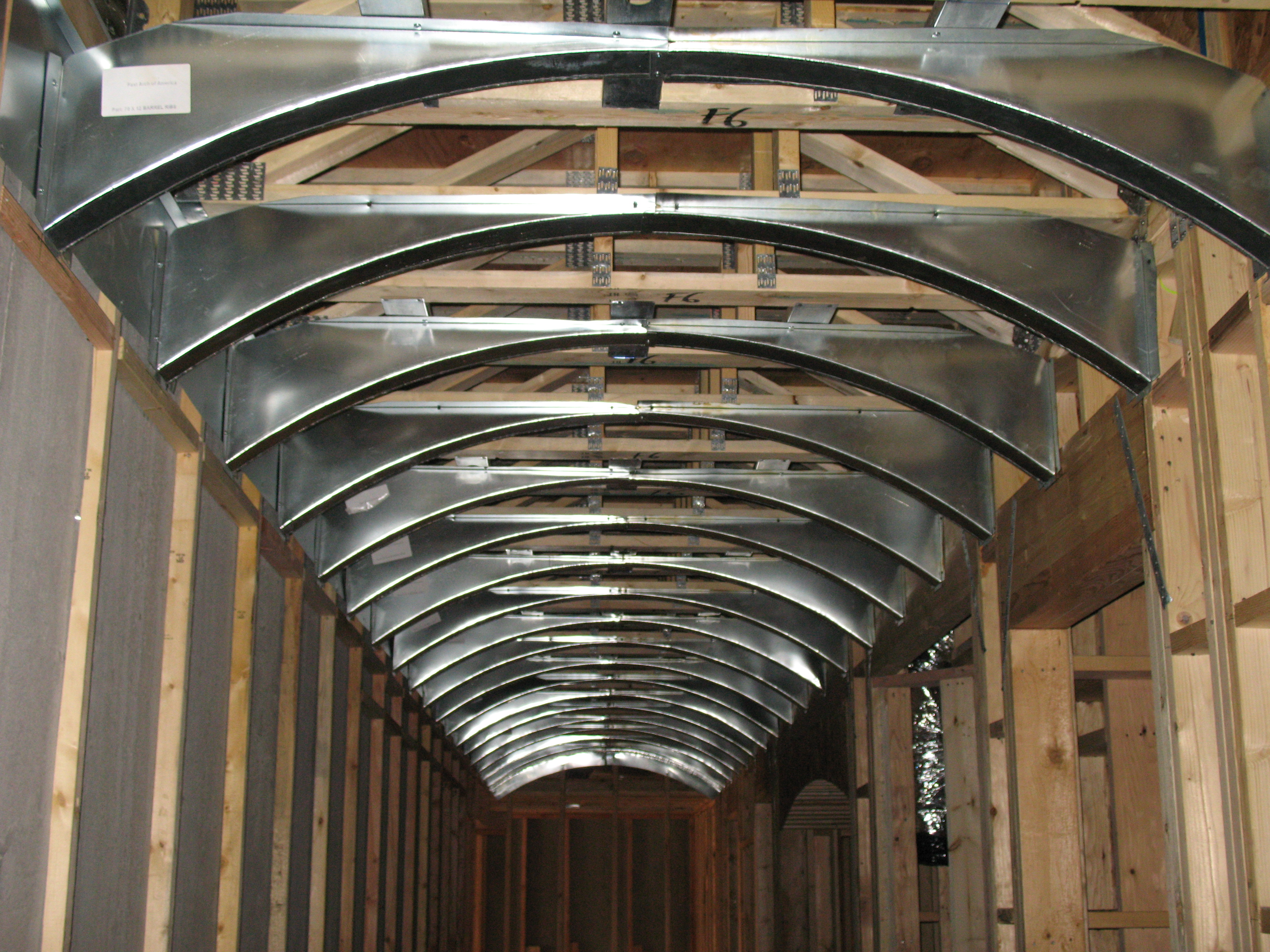 Pictures of Radiant Barrier installations - Energy Efficient Pictures of barrel ceilings